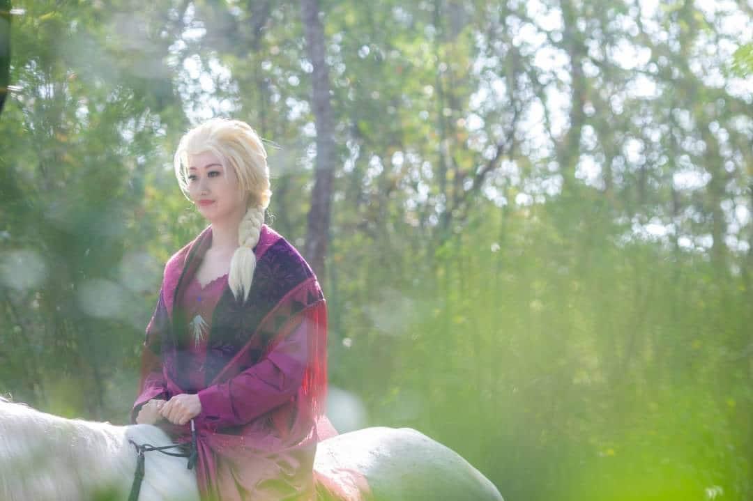 Cosplay冰雪奇緣二:ELSA艾莎公主-睡衣版